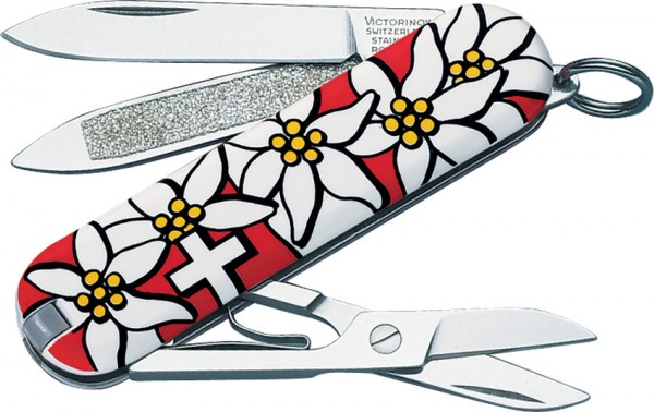 Victorinox Classic Red Edelweiss