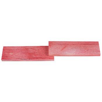 Giraffenknochenplatten Paar - achatfarben (rosa)