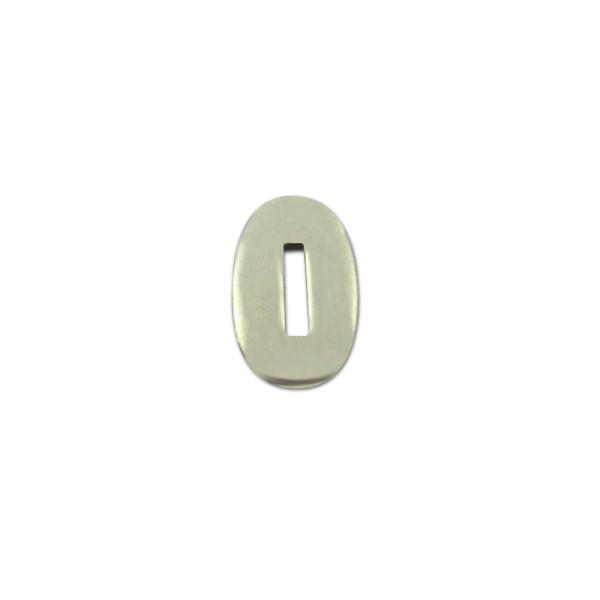 Kopfplatte Neusilber oval - 30 x 19 x 3 mm