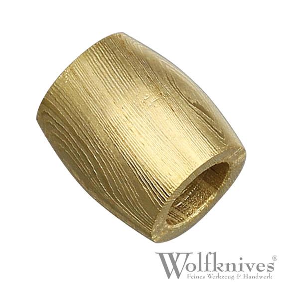 Damast Perle goldfarben - gewölbte Form