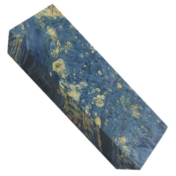 Stabilisiertes Ahorn gemasert - Ocean Blue