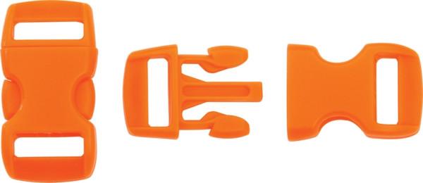 Steckschließe orange - bis 10 mm Bandbreite