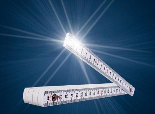 LEUCHTMETER - Zollstock Meterstab mit LED Licht