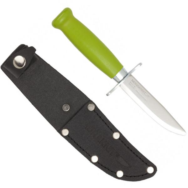 Mora/Frosts® Kinder Schnitzmesser grün - abgerundete Spitze