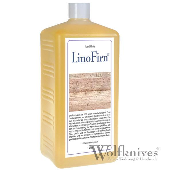 LinoFirn® - kaltgepresste schwedische Leinölfirnis - 1 Liter