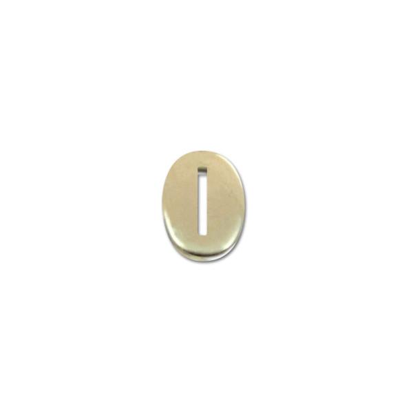 Kopfplatte Neusilber oval - 24 x 16 x 3 mm