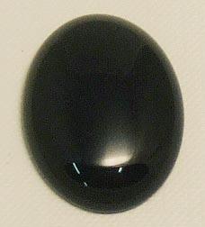 Rekonstruierter Edelstein - Black Stone oval