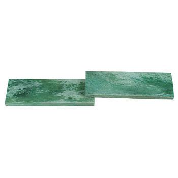 Giraffenknochenplatten Paar - malachitfarben (grün)