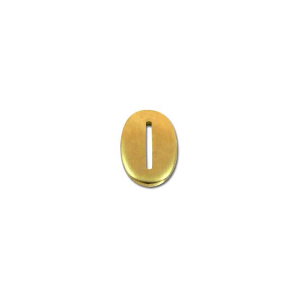 Kopfplatte Messing oval - 24 x 16 x 3 mm