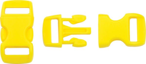Steckschließe gelb - bis 10 mm Bandbreite