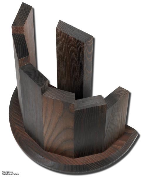 Messerblock Design aus Makassarholz