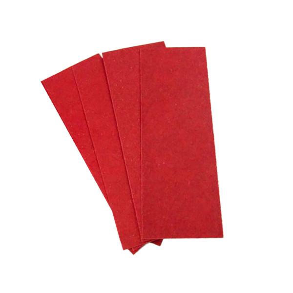 Vulkanisiertes Fiber 4er Set - rot - 0,8 mm für Griffschalen