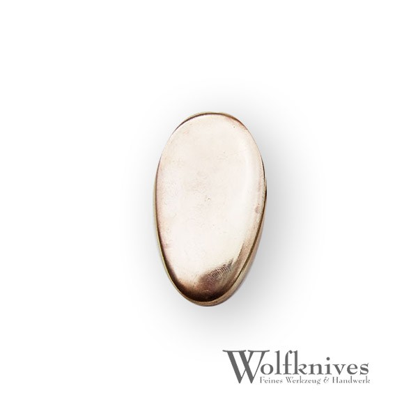 Endkappe Bronze - 35 x 25 mm - oval
