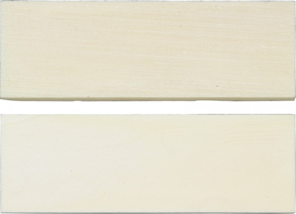 Griffschalen Bone white smooth - paarweise