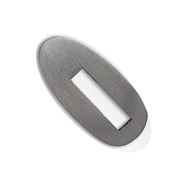 Kopfplatte Edelstahl rostfrei - 38 x 18 x 6 mm
