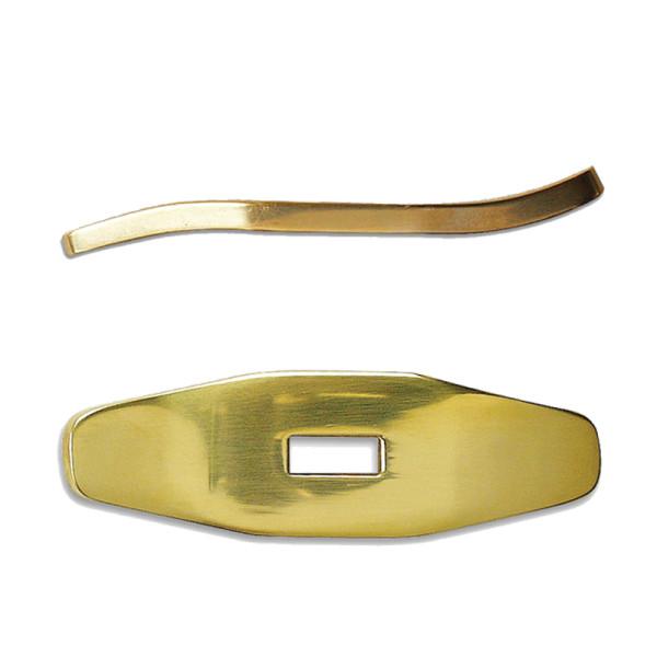 Parierstück Messing - S-förmig - 72 x 22 x 5 mm