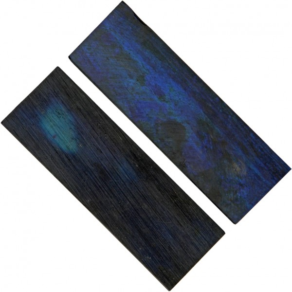 Griffschalen Bone shiny blue - paarweise