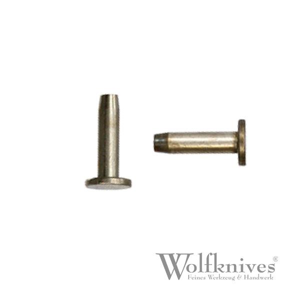Stiftniete ST 1 Neusilber - 7,5/3,5/9 mm