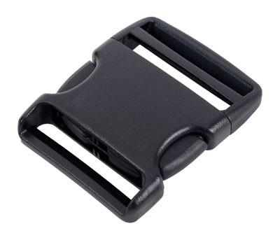 Steckschließe D schwarz - bis 40 mm Bandbreite