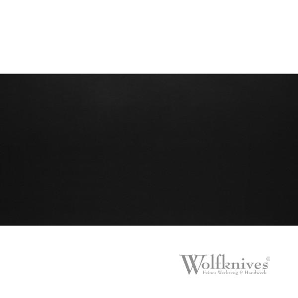Lederzuschnitt schwarz - 12 x 25 cm