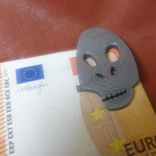 Geldklammer Hikari aus Damaststahl