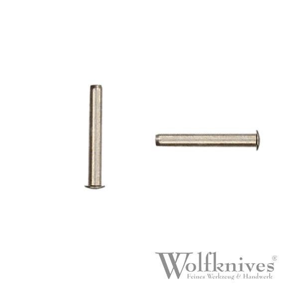 Stiftniete ST 7 Neusilber - 3,2 / 2 / 15,5 mm
