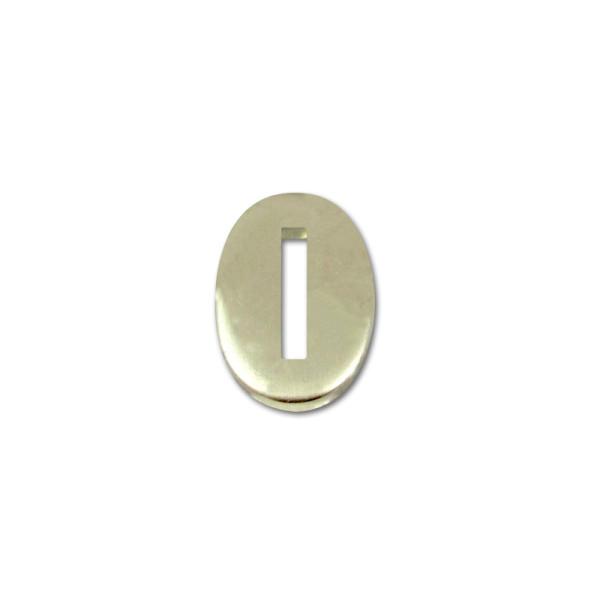 Kopfplatte Neusilber oval - 32 x 21 x 3 mm