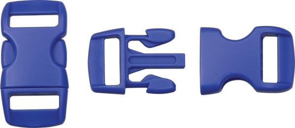 Steckschließe blau - bis 10 mm Bandbreite