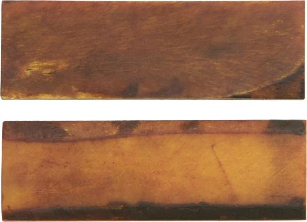 Griffschalen Bone bernsteinfarben - paarweise- glatte Oberfläche