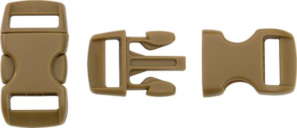 Steckschließe braun - bis 10 mm Bandbreite