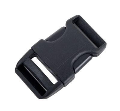 Steckschließe C schwarz - bis 25 mm Bandbreite